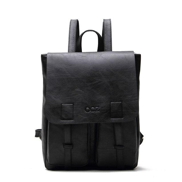 """Крест быка мужской рюкзак водонепроницаемый рюкзаки PU кожаные сумки модный 14 """"Рюкзак Школьная Сумка BK8005"""