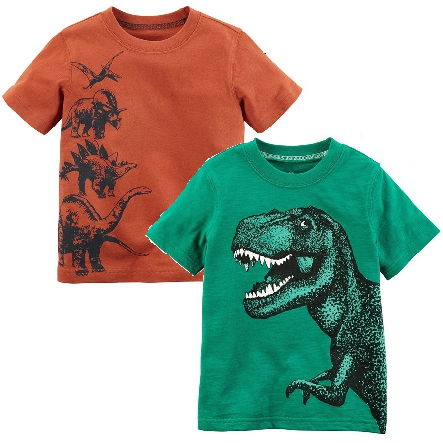f15986c4e84 Dino Baby Boy Clothes Summer 100% Cotton Children Tee Shirts Dinosaur  Newborn T-Shirt Short Sleeve Kids Outfits Green Boy s Tops