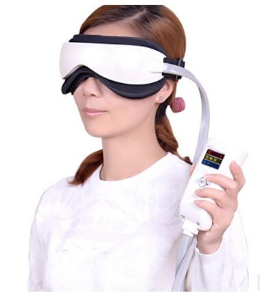 Electric Air pressure Eye massager with mp3 Wireless Vibration Magnetic heating therapy massage device.myopia care glasses free shipping new air pressure eye massager with mp3 6 functions dispel eye bags eye magnetic far infrared heating eye care
