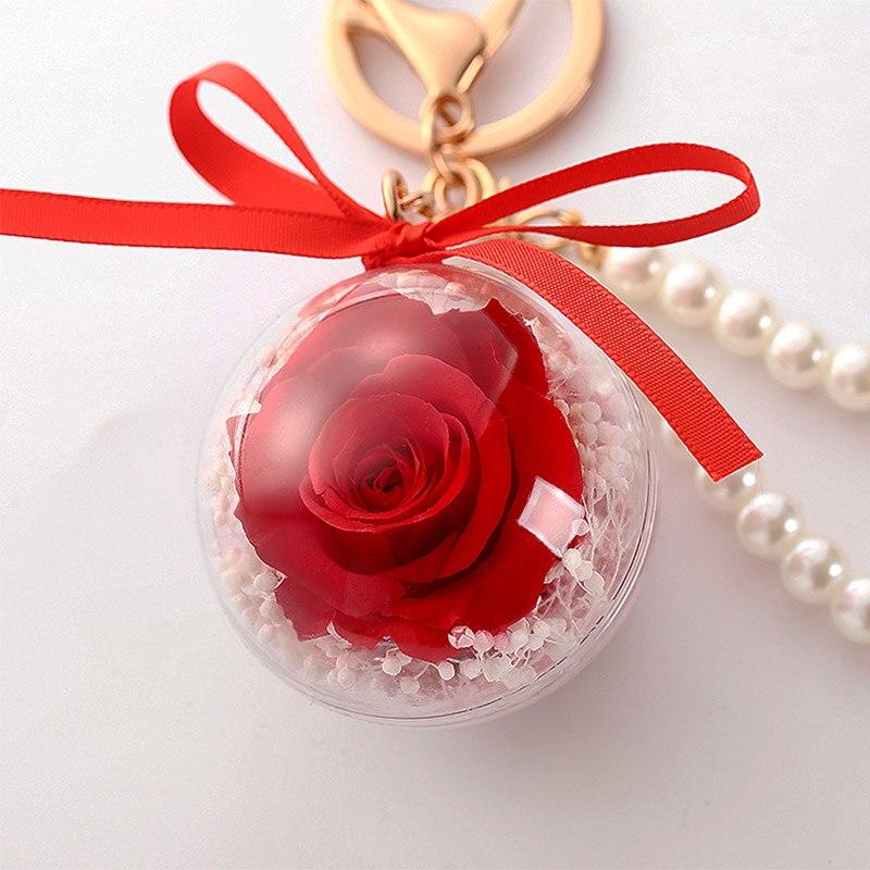 Романтический рождественский подарок для женщин вечные подвески в форме роз украшение автомобиля цветы сушеные цветы Висячие для сумки/брелок - Цвет: 07