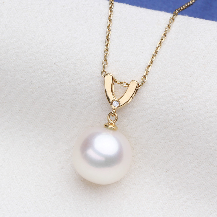 Luxury genuine G18K Gold Accessories Fashion Pearl Pendant Settings Findings Pendant Mountings Women Accessories Female JewwelryLuxury genuine G18K Gold Accessories Fashion Pearl Pendant Settings Findings Pendant Mountings Women Accessories Female Jewwelry