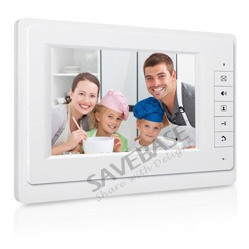 "Купить с кэшбэком HOMSECUR Wired 2 Apartment Video Door Phone 2-Way Intercom 7"" Color Screen For 2 Families"