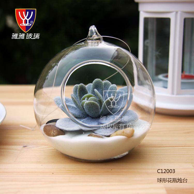 cm gran terrario colgando florero de cristal ronda de mesa jarrones decoracin decoracin de