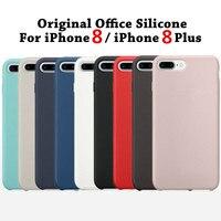 Silikon Fall Für iPhone 8 Handy Bags Koffer Abdeckung Für iPhone 8 Plus Mit Logo Büro Original 1:1 Kopie Coque Fundas