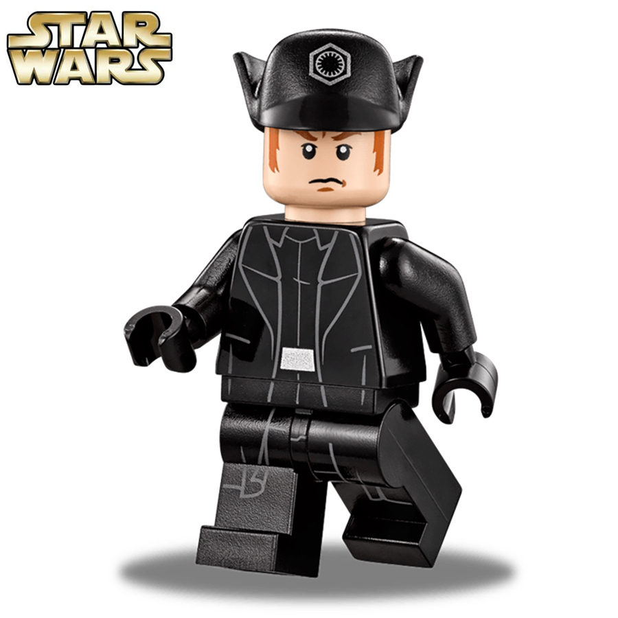 Single Sale STAR WARS First Order Officer commander General Hux Yuda Darth Vader Model minifig Building Blocks Kids Toys Gifts