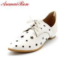 ENMAYERsize 34 47 Fashion Shoes Women Flats Pointed Toe Ladies Vintage Oxford Flats Shoes Casual Wedding