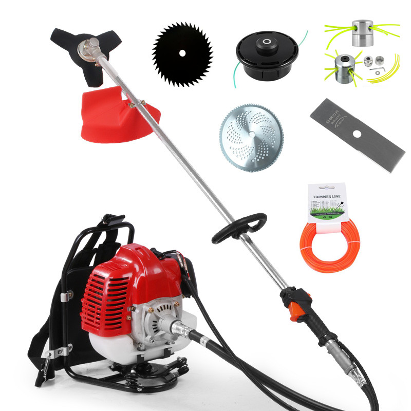 Garden Power Tools Dependable 2019 New High Quality Petrol Backpack Brush Cutter Grass Cutter With 52cc Petrol 2 Stroke Engine Multi Brush Trimmer Strimmer Goods Of Every Description Are Available Garden Tools