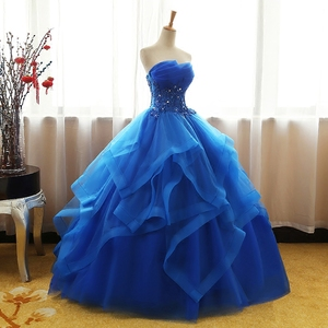 Image 4 - Fashion Luxury Lace Black Blue Champagne Quinceanera Dress Ruched Crystal Organza Vestidos De 15 Debutante Gown Bohemia Princess