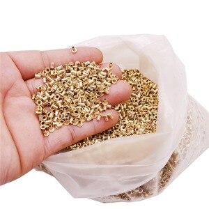 Image 4 - Ongeveer 12100 Pcs Bijenkorven Installatie Draad Gat Koper Plated Materiaal Ongeveer 990G Netto Gewicht Bijenteelt Gereedschappen Koperen Ogen