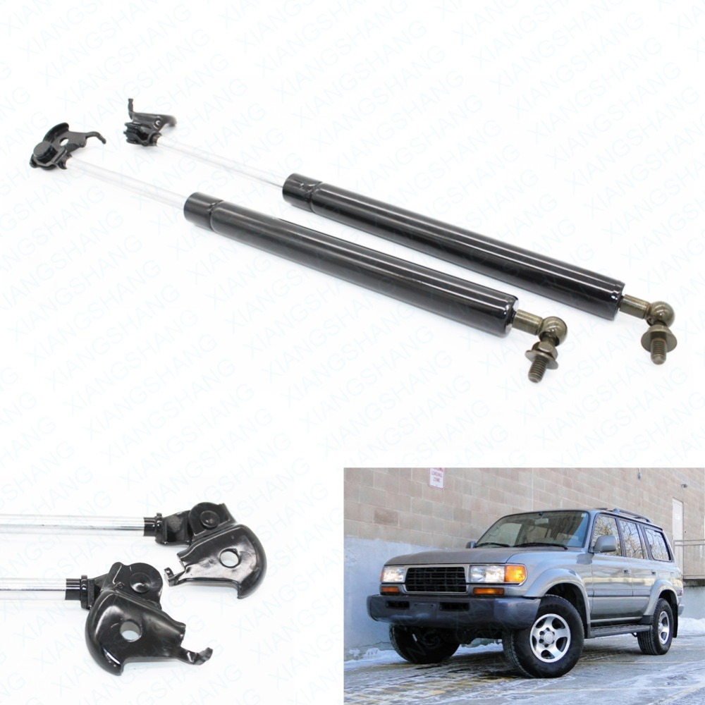 2pcs Auto Bonnet Hood Shock Gas Struts Spring Lift Supports for 1990-1997 16.42 inches Toyota Landcruiser 1996-1997 Lexus LX450 цена