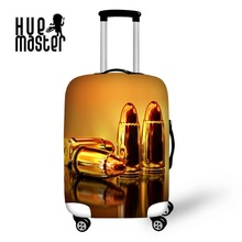 ФОТО Gold bullet 3D printing Luggage Dust cover travel accessories scratch waterproof luggage cover travel suitcase covers case cover