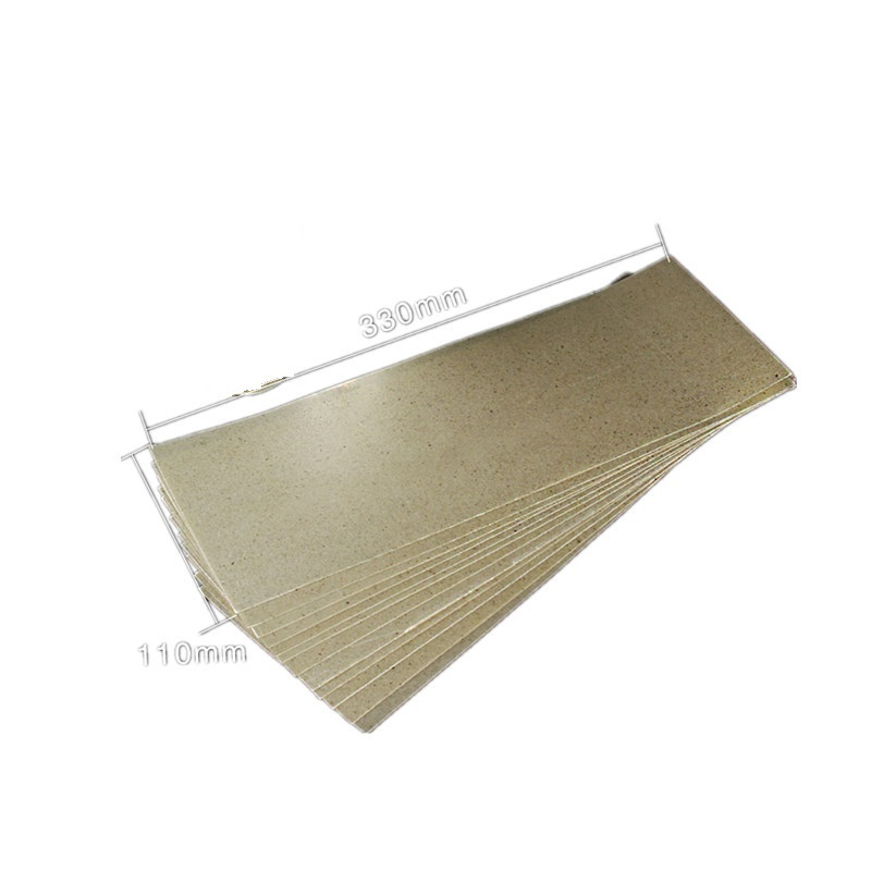 10pcs High Temperature Resistant Mica Paper Insulating Mica Sheet For Hot Air Gun Soldering Stations Grilling Heater 330mm*110mm