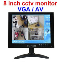 800x600 8 inch CCTV Monitor for cctv surveillance BNC / VGA / AV video output professional cctv lcd monitor
