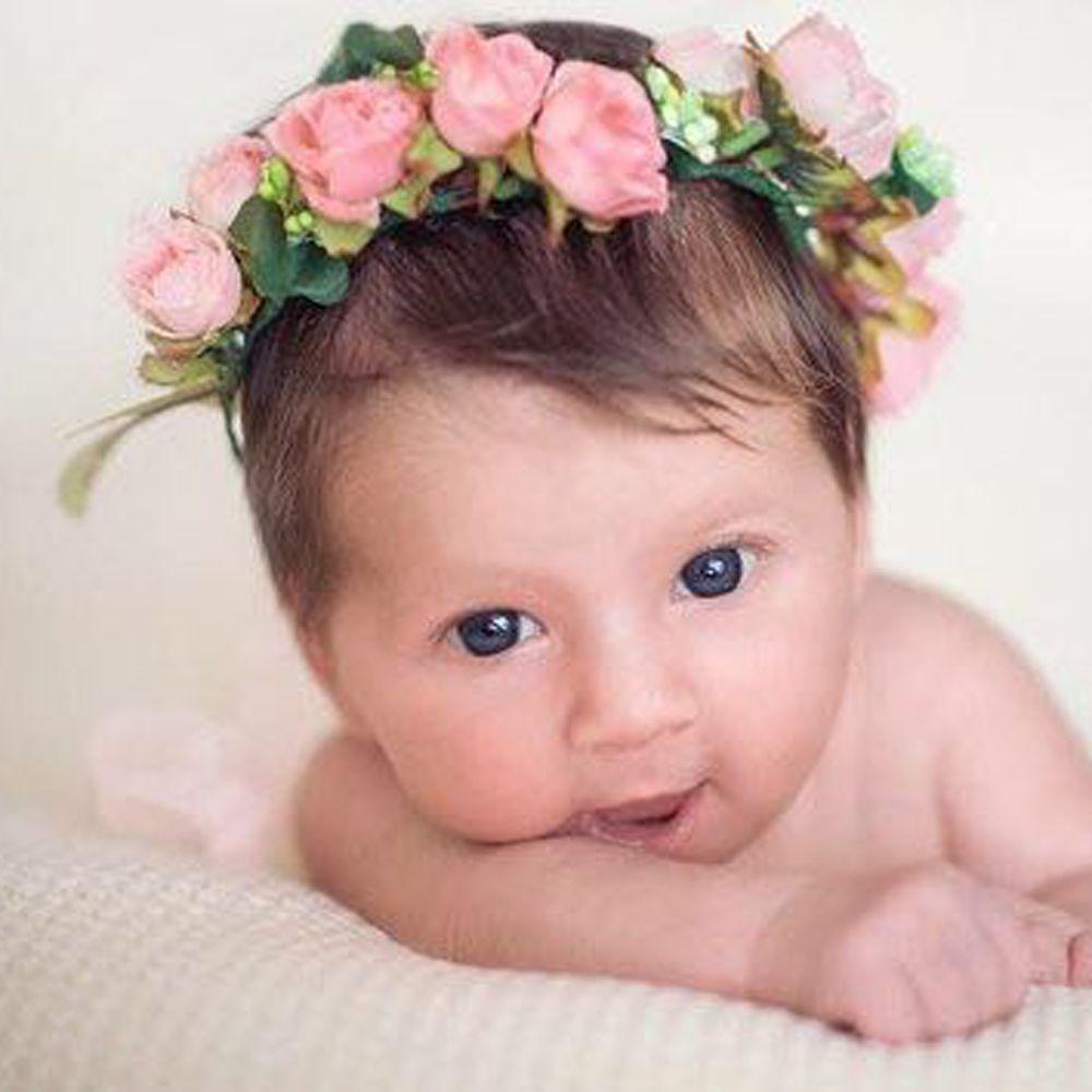 1PC Cute Baby Kids Girl Boy Children Bohemia Flower Floral Hairband Crown Headband Party Wedding Girls Beach Headwear Hot Sale