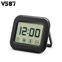 Digital Kitchen Timer Large Touch Sensor LCD Display Magnetic Backing Loud Clock Retractable Stand Kitchen Cooking