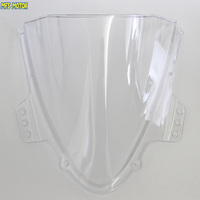 Motorcycle Part Double Bubble Windshield Windscreen Transparent For Suzuki GSXR 1000 K5 2005 2006 05 06