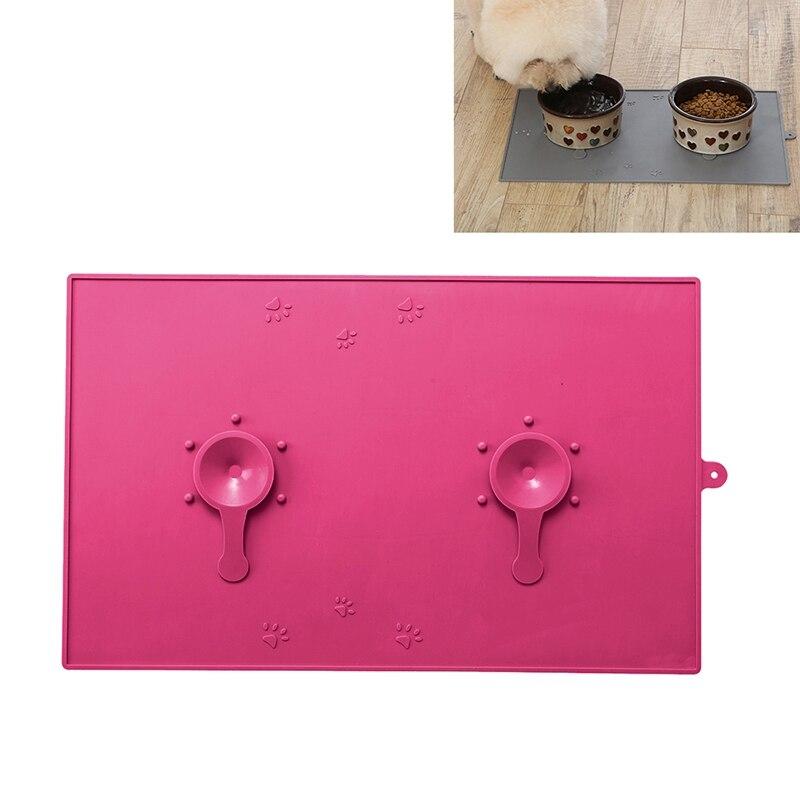 48x30cm Waterproof Pet Mat For Dog Cat Silicone Pet Food