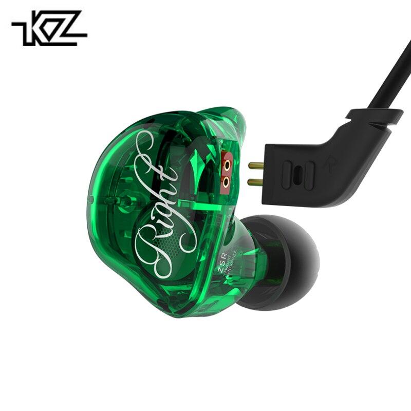 Original KZ ZSR 2BA+1DD 6 Driver Unit In-ear Earphone Hybrid Dynamic Earplug Fever Heavy Bass Noise Cancelling Headset With Mic
