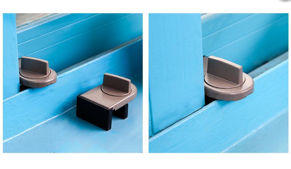10 Pieces Sliding Sash Stopper Cabinet Locks Straps Doors Security Anti-theft Lock Window Door Baby Kids Child Safety Doors Lock Always Buy Good