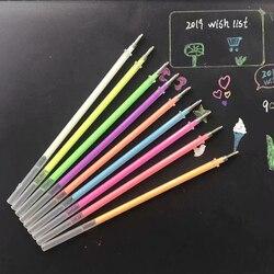 9Pcs/lot 0.7mm White Ink Gel Pen Refills Color Photo Album Gel Pen Refill Stationery Office Cute Scrapbooking Pen for Kids