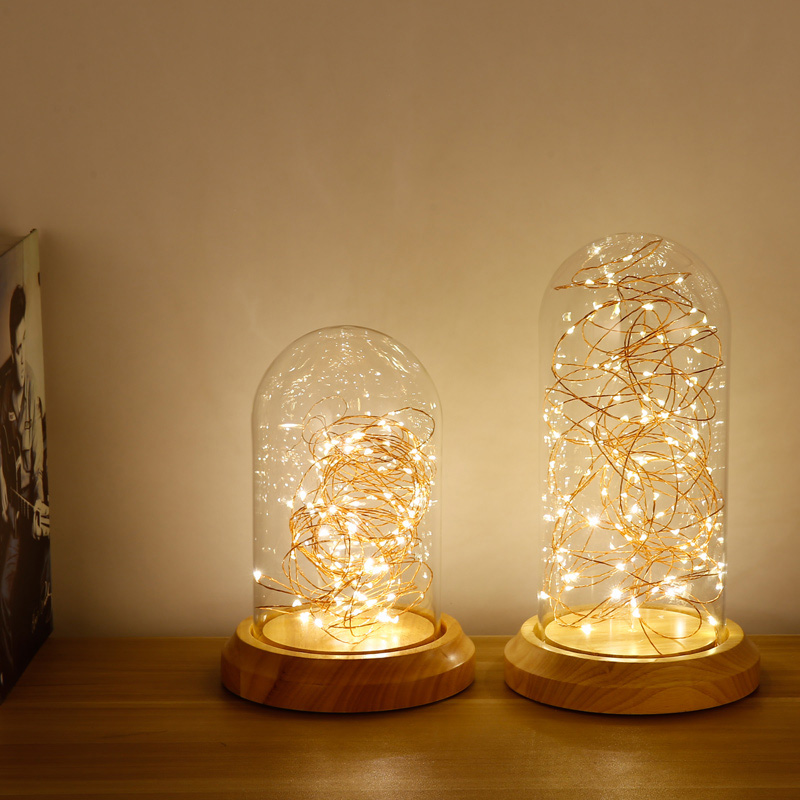 New modern wood glass shade night light nordic style led decorative new modern wood glass shade night light nordic style led decorative table lamp creative bedside desk lights christmas gift tl142 in table lamps from lights aloadofball Image collections