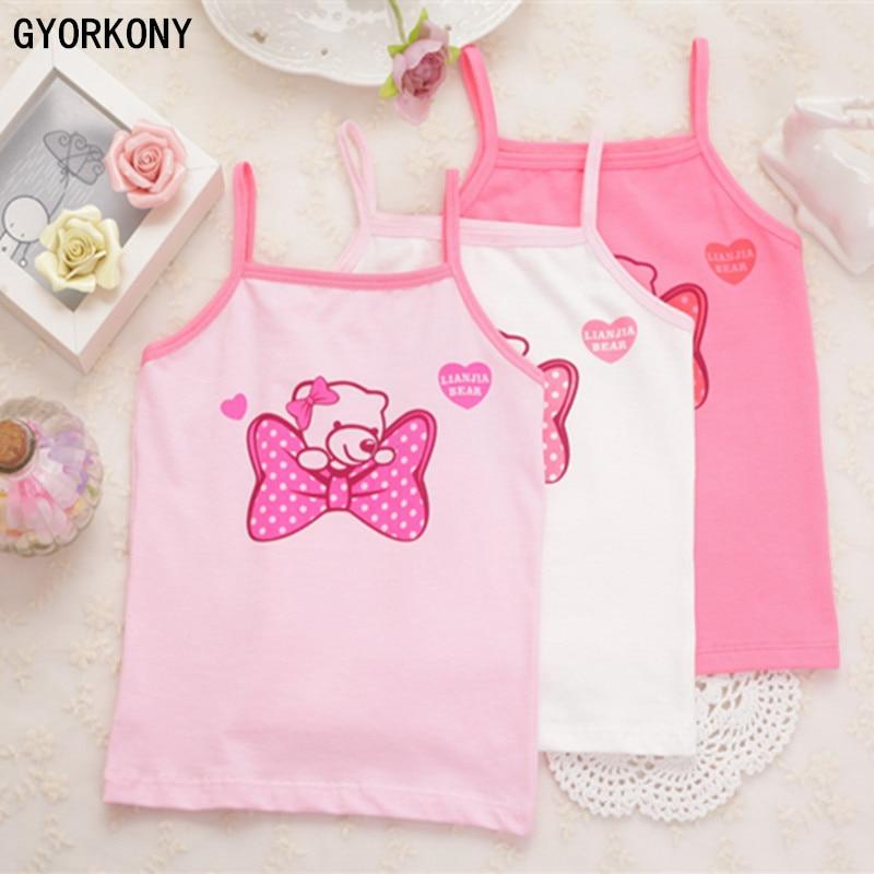 Kids Underwear Vest Tank-Tops Girls Child Model1pcs Cotton A-9638-1P Candy-Color Retail