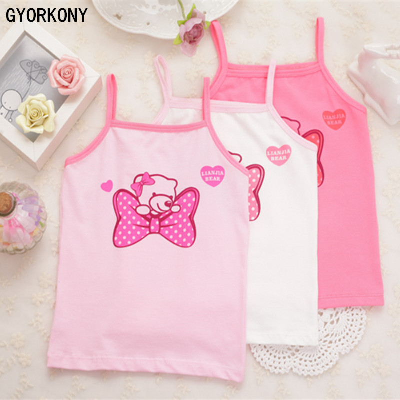 Girls tank tops cotton girls cotton child vest girls candy color girls undershirt kids underwear model1pcs retail A-9638-1P