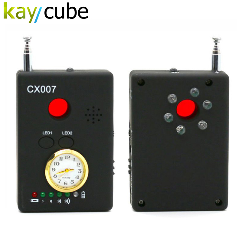CX007 Full Range Frequency Detector Multi-function Signal Camera Phone GSM GPS WiFi Bug Spy RF Detector Finder 1 pcs full range multi function detectable rf lens detector wireless camera gps spy bug rf signal gsm device finder
