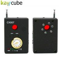 Rango de Frecuencia Del Detector CX007 Full Multi-función de Cámara de la Señal Del Teléfono GSM GPS WiFi Spy Bug RF Detector Buscador