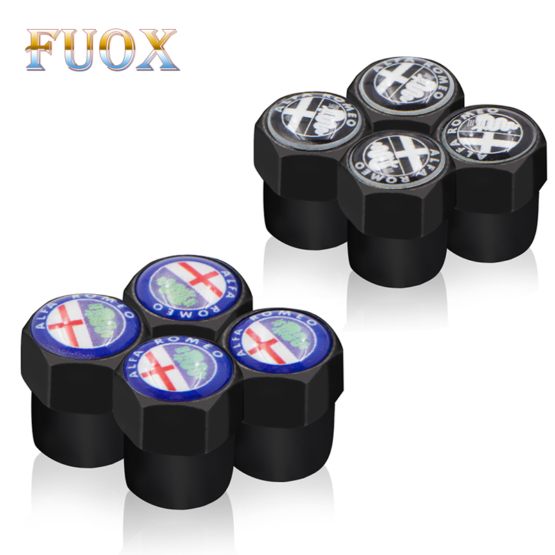 Car Styling Valves Caps Case For Alfa Romeo Mito 147 156 159 166 Car-Styling Auto Wheel Tyre Tire Stem Air Covers 4pcs/lot