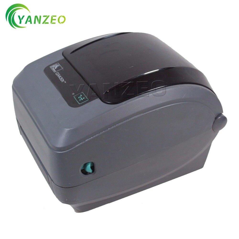 GX43 102410 000 для Zebra GX430t 300 точек на дюйм термальность сети принтер штрих кода на этикетке USB и Ethernet адаптер переменного тока Label принтер для бирок