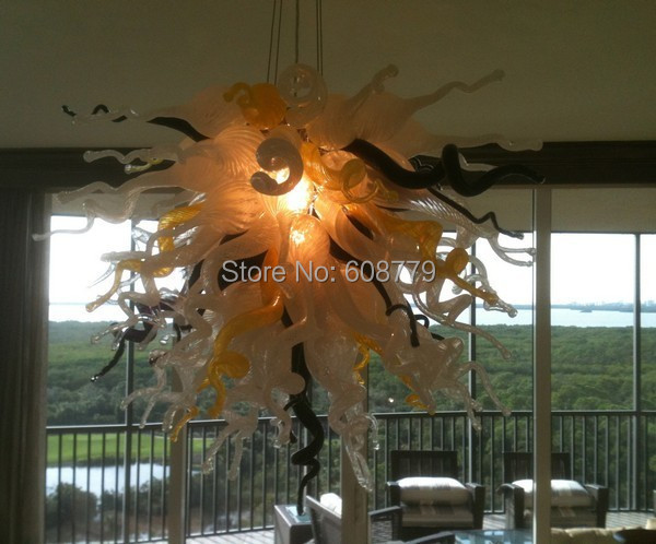 Free Shipping Special Design Murano Glass Deco Hanging LED Chandelier