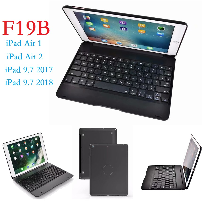 9.7'' Universal Keyboard Case for iPad Air 1 Air 2 iPad 2017 2018 9.7 Pro 9.7 Case with Keyboard Wireless Bluetooth Cover Stand