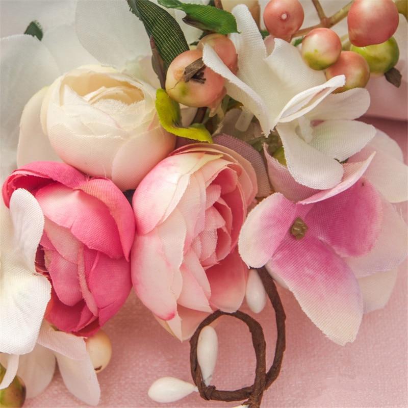 Beaded Flower Tiara Hair Clip Pearl Jewelry Fascinator Hair Accessories Bridal Headpiece Cheveux Femme Bijoux De Tete WIGO0762