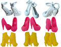 10pairs/lot Mix Style Fashion Design Shoes High Heel Shoes For Monster High Dolls Sandals For 1/6 Monster Dolls