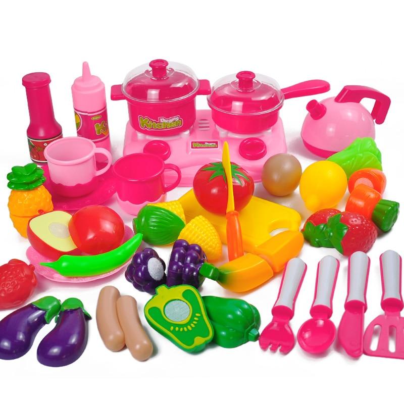 34 juegos de cocinas para niños jugar juguetes de casa frutas y - Juguetes clásicos - foto 1