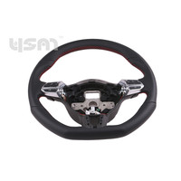 New Chromed Red Stitch GTIStyle Multifunction Steering Wheel w.Paddle for VW Golf MK6 Jetta EOS CC 3C8419091 3C8 419 091