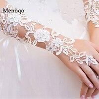 Stock Simple Bride Wedding Gloves Evening Fingerless Luva De Noiva Luva Lace Bridal Gloves Para Noiva Wedding Accessories