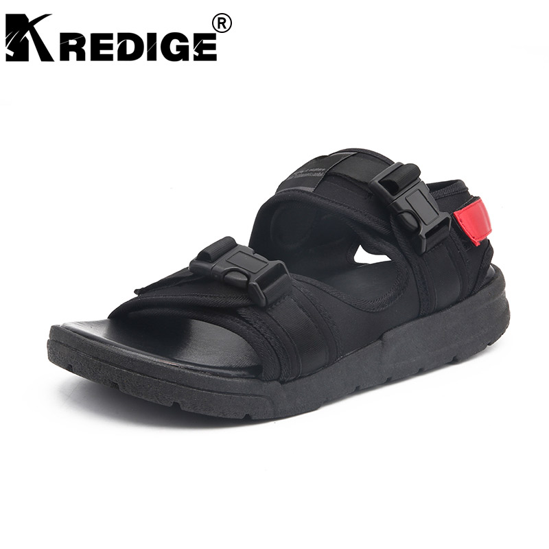 KREDIGE Summer Breathable Slip-On Men Sandals New Arrival Stretch Fabric Casual Sandals Hard-Wearing Soles Light Sandals Male