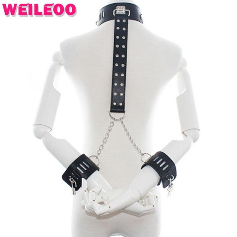 collar hand cuffs handcuffs for font b sex b font font b toys b font bdsm