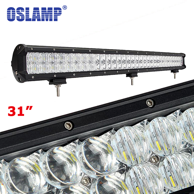 Oslamp 330W 31inch 5D CREE Chips LED Bar OffRoad Work Driving Light Spot+Flood Combo 12v 24v Truck SUV ATV Car 31 Light Bar Led oslamp 5d 32 led light bar 300w cree chips offroad led work light bar combo beam 12v 24v truck suv atv 4x4 4wd led driving lamp