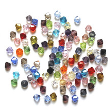 AAA 200pcs 4mm Bicone 5301 Austria Crystal Beads Glass Loose Spacer Bead for DIY Fashion Jewelry Making