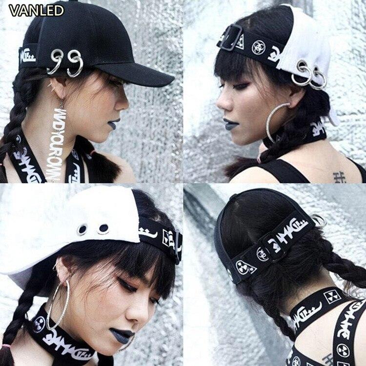 Prix pour Nouveau Punk lettre femelle d'été personnalité HARAJUKU quoined hiphop casquette de baseball
