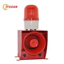 TGSG-07 DC24V AC220V/380V Sound and light alarm LED Warning Lamp 130dB Strobe Light with Siren Audible Visual Alarm