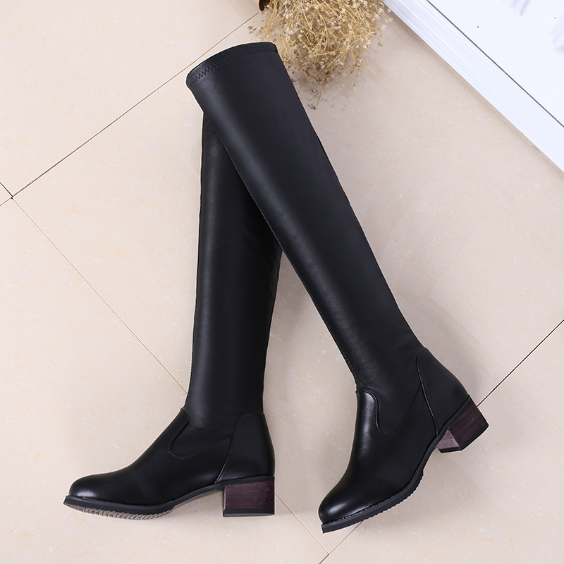 2017 New Hot Sale Big Size 34-44 Women Overknee High Boots Sexy Heels Pointed Toe Spring Autumn Winter Shoes High-quality 6-25 new 2017 spring summer women shoes pointed toe high quality brand fashion womens flats ladies plus size 41 sweet flock t179