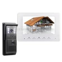 DIYSECUR 7inch Video DoorPhone Doorbell Intercom Metal Shell Camera LED Night Vision 1 Monitor White