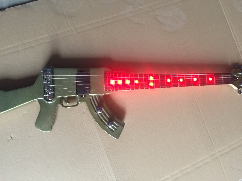 Électrique Guitare/Pistolet Guitare/Vert lumière led rouge Individuels Guitare/Personnalisable Guitare