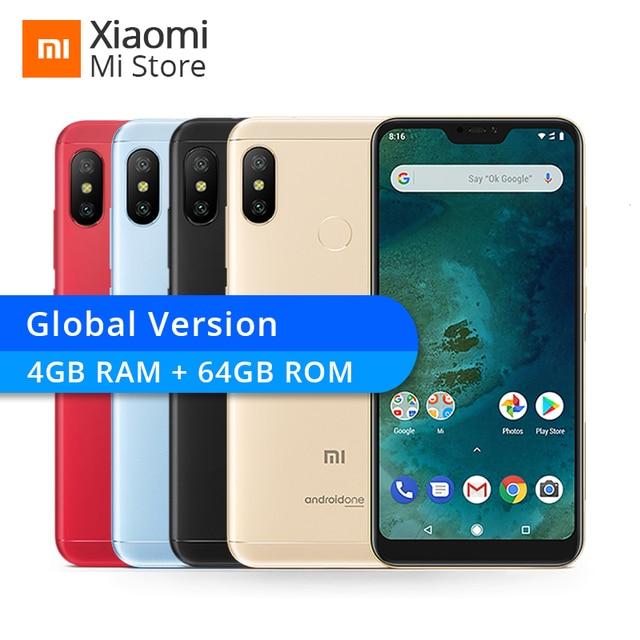 "Global Version Xiaomi Mi A2 Lite 4GB RAM 64GB ROM Mobile Phone Snapdragon 625 Octa Core 5.84"" 19:9 Full Screen 4000mAh Battery"