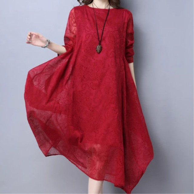 3dd630bc4d05 Spring And Summer Female Cotton And Linen Baggy And Loose Dresses Women s  Plus Size False Hemp Silk Dress