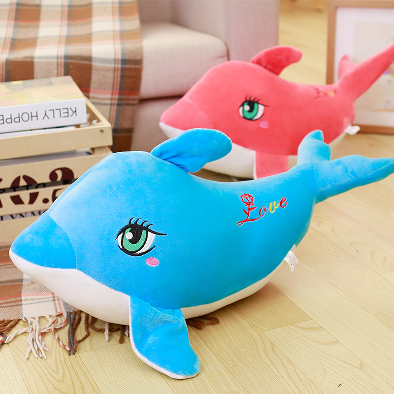 30cm Super cute stuffed toy Dolphin 2 Colour Plush Soft Doll Animal Stuffed Toy For Baby Kids Birthday Gifts Back Cushion Good 40 30cm pusheen cat plush toys stuffed animal doll animal pillow toy pusheen cat for kid kawaii cute cushion brinquedos gift